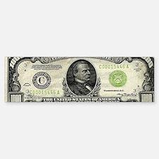 1,000 dollar bill Sticker (Bumper)