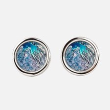 Rivers meeting the sea viewed from a sat Cufflinks