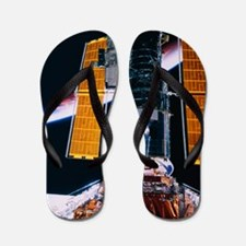 Satellite Launching from Space Shuttle Flip Flops