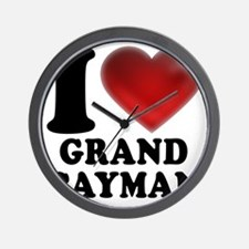 I Heart Grand Cayman Wall Clock