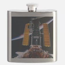 Satellite Launching from Space Shuttle Flask