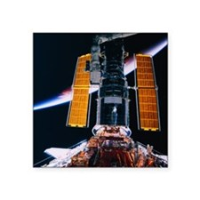 """Satellite Launching from Sp Square Sticker 3"""" x 3"""""""