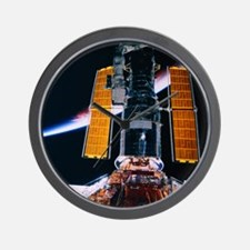 Satellite Launching from Space Shuttle Wall Clock