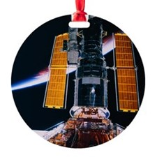 Satellite Launching from Space Shut Ornament