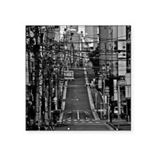 """Street with electric cables Square Sticker 3"""" x 3"""""""
