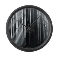 Sunlight in forest Large Wall Clock