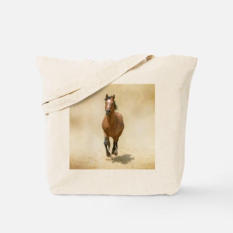 Shagya-Arabian horse cantering through du Tote Bag