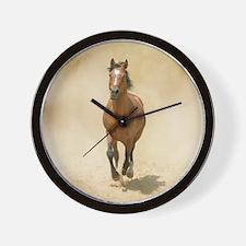 Shagya-Arabian horse cantering through  Wall Clock