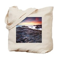 Sunset on a rocky California beach, Malib Tote Bag