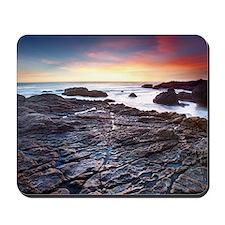 Sunset on a rocky California beach, Mali Mousepad