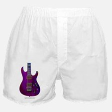 """Enamel Purple"" Guitar Boxer Shorts"