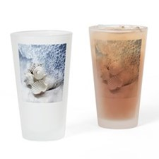 Seashells washed ashore Drinking Glass