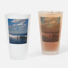 Surfer riding big wave in Ocean bea Drinking Glass