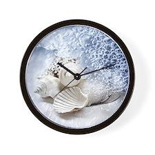 Seashells washed ashore Wall Clock