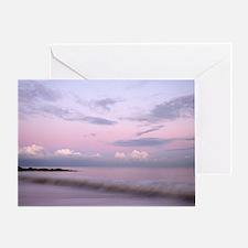 Serene coastal scene at dusk, Suffol Greeting Card