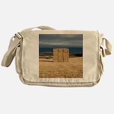 Square haystack during sunset, Navar Messenger Bag