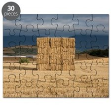 Square haystack during sunset, Navarre (Nav Puzzle