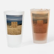 Square haystack during sunset, Nava Drinking Glass