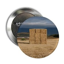 """Square haystack during sunset, Navarr 2.25"""" Button"""