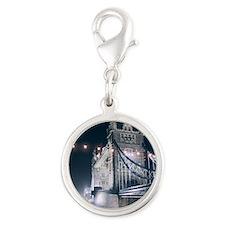 Tower Bridge, London Silver Round Charm
