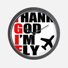 TGIF Thank God Im Fly Wall Clock