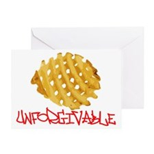 WAFFLE FRIES Greeting Card