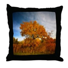 Tree in Autumn. Throw Pillow