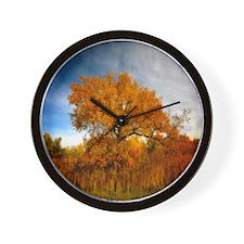 Tree in Autumn. Wall Clock