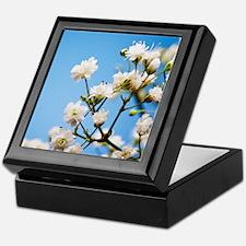 Small, white, baby's breath flowers Keepsake Box