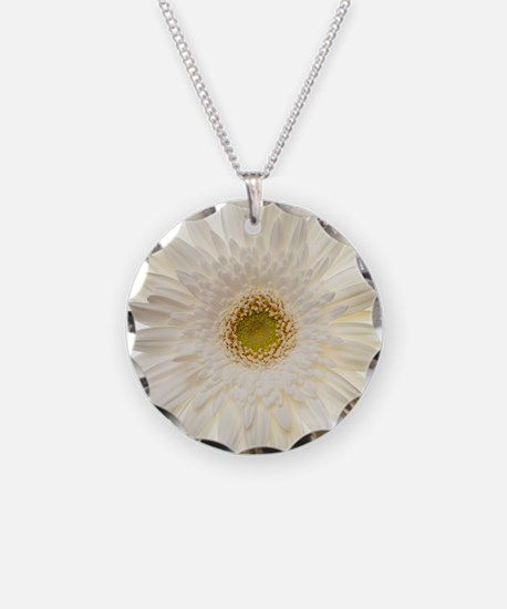 White gerbera daisy isolated Necklace