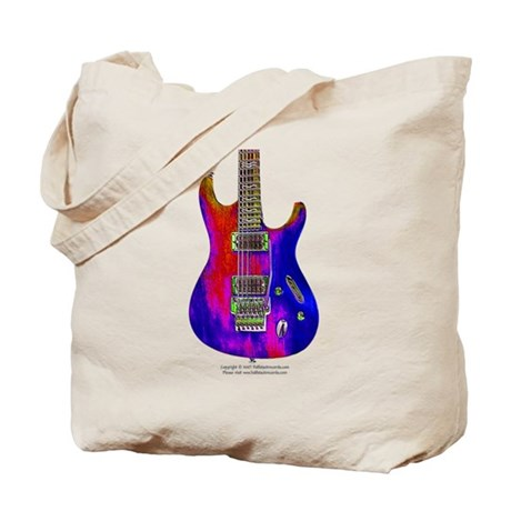 """Blue Flame"" Guitar Tote Bag"