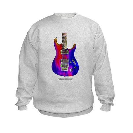 """Blue Flame"" Guitar Kids Sweatshirt"