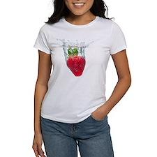 Strawberry fruit splashing and sub Tee