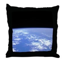 View of the Earth From Space Throw Pillow