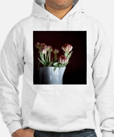 White vase with flowers. Hoodie