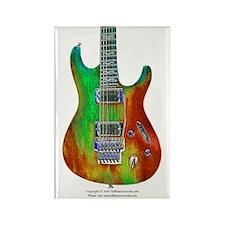 """Fire"" Guitar Rectangle Magnet"