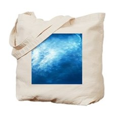 Wave, full frame Tote Bag