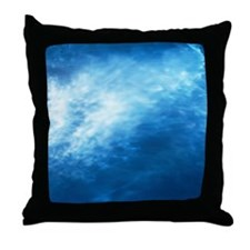 Wave, full frame Throw Pillow