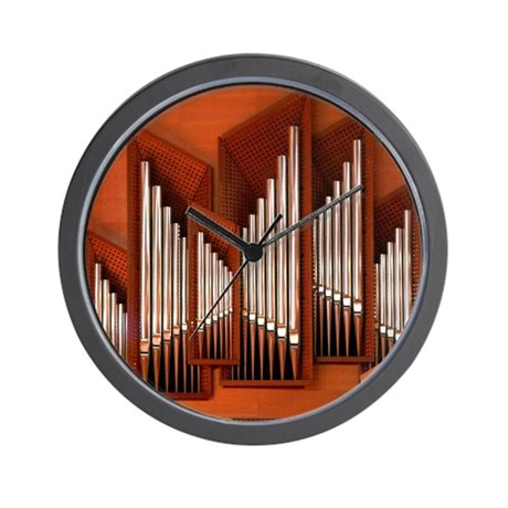 View of right section of organ of Bilba Wall Clock