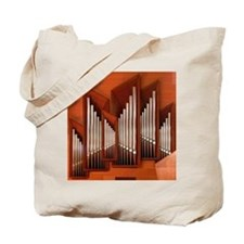 View of right section of organ of Bilbao  Tote Bag