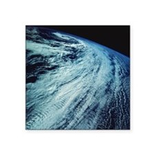"Storm Patterns on Earth Square Sticker 3"" x 3"""