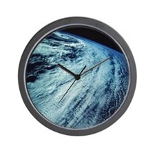 Storm Patterns on Earth Wall Clock