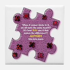 Autism Have A Heart Tile Coaster