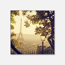 "Sunset in Paris. Square Sticker 3"" x 3"""