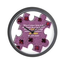 Autism Have A Heart Wall Clock