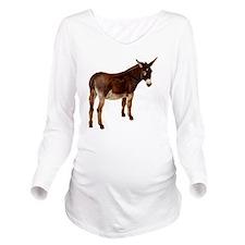 donkey Long Sleeve Maternity T-Shirt
