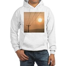 Telephone wires and pole with su Hoodie