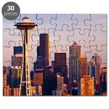 The Space Needle at dusk in Seattle, Washin Puzzle