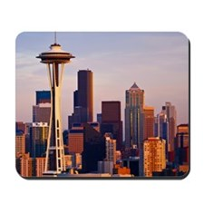 The Space Needle at dusk in Seattle, Was Mousepad