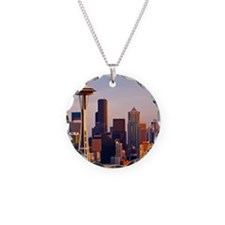 The Space Needle at dusk in  Necklace